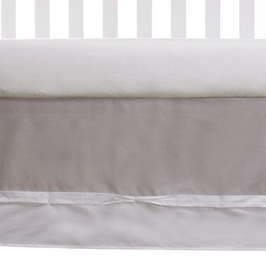 Living Textiles Bed Skirt Grey & White