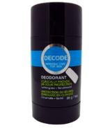 DECODE Lemongrass & Sandalwood Deodorant Stick