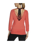 Gaiam Clover Long Sleeve Top Coral
