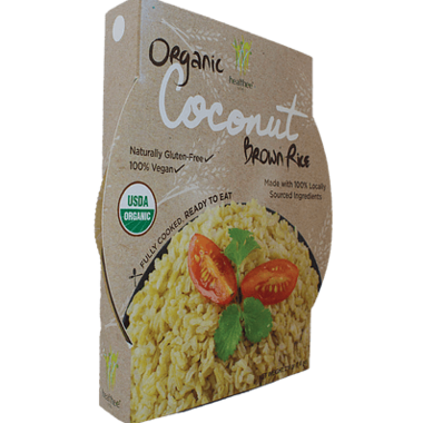 Healthee Coconut Ready to Eat Organic Brown Rice
