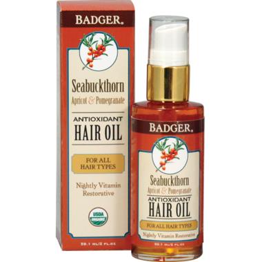 Badger Antioxidant Hair Oil for All Hair Types