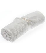 Beba Bean Ivory Seed Stitch Blanket