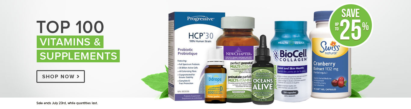 Save up to 25% on our Top Vitamins & Supplements