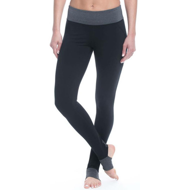 Gaiam Om Panel Barre Leggings Black with Charcoal Heather
