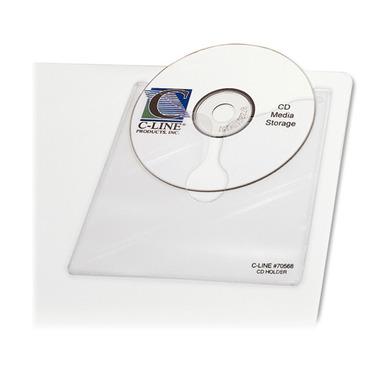 C-Line Self Adhesive CD/DVD Holder