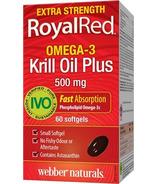 Webber Naturals RoyalRed Extra Strength Krill Oil Plus