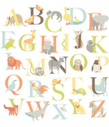 WallPops Alphabet Zoo Large Wall Art Kit