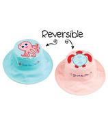 Flapjack Kids Reversible Sun Hat Pink Octopus & Sea Turtle