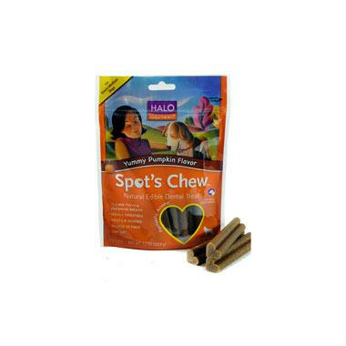 Halo Spot\'s Chew Yummy Pumpkin Flavour Dog Dental Treats