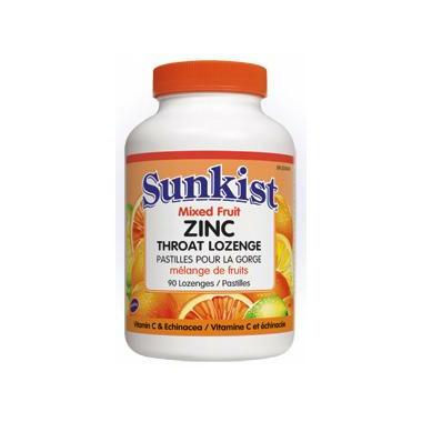 Sunkist Zinc Lozenges with Echinacea & Vitamin C
