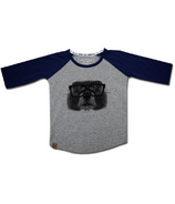 L&P Apparel Baseball Style Shirt Grey & Navy Groundhog