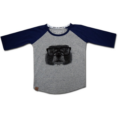 L&P Apparel Baseball Style Shirt Grey & Navy Groundhog