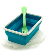 Eco Vessel Collapsible Silicone Single Compartment Container Blue