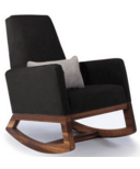 Monte Design Joya Rocker Microfiber & Walnut Base