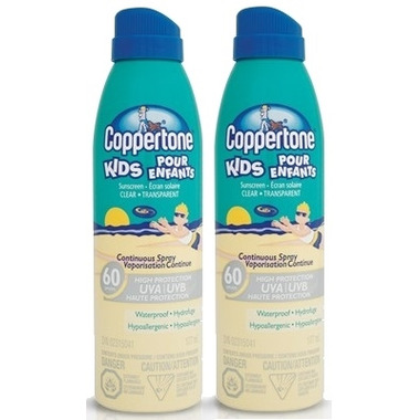 Coppertone Kids Sunscreen Clear Continuous Spray Duo