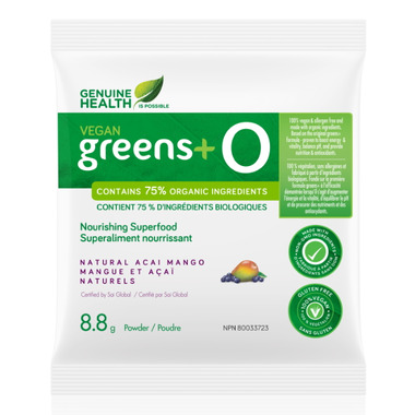 Genuine Health Vegan Greens+ O Single Serve Packs