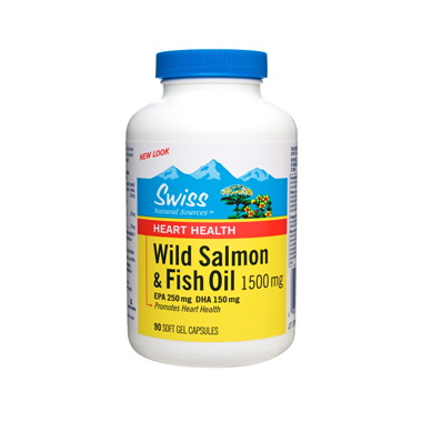 Buy swiss natural sources salmon wild fish oil 1500mg at for Salmon fish oil