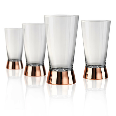 Artland Coppertino Highball Glasses