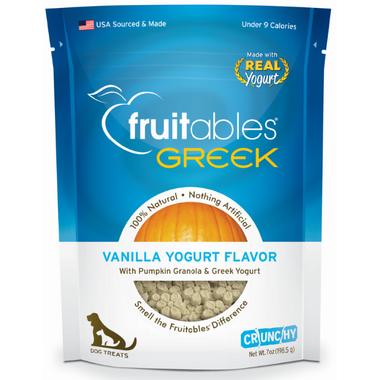 Fruitables Crunch Dog Treats Greek Vanilla Yogurt