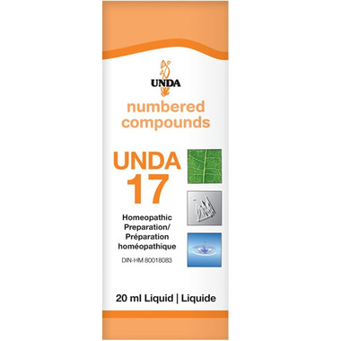 UNDA Numbered Compounds UNDA 17 Homeopathic Preparation