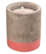 Paddywax Urban Concrete Pot Coral Salted Grapefruit Soy Wax Candle