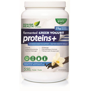 Genuine Health fermented GREEK YOGURT proteins+ Protein Powder Vanilla