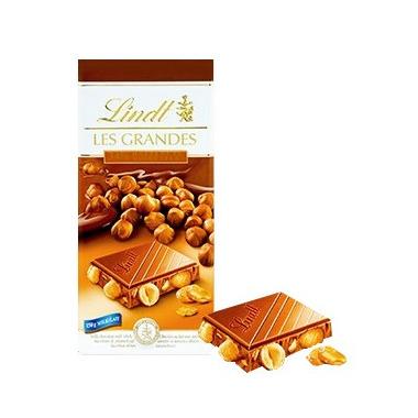 Lindt Les Grandes Hazelnut Milk Chocolate Bar