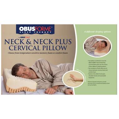 Obus Forme Neck & Neck Plus Cervical Pillow
