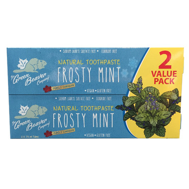 Green Beaver Frosty Mint Toothpaste Value Pack