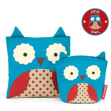 Skip Hop Zoo Reusable Sandwich & Snack Bag Set Owl
