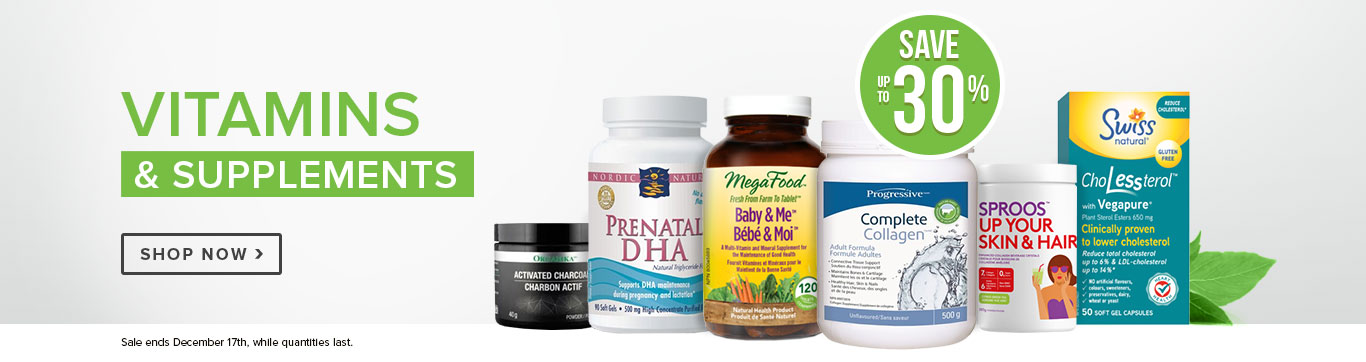 Save up to 30% on all Vitamins & Supplements
