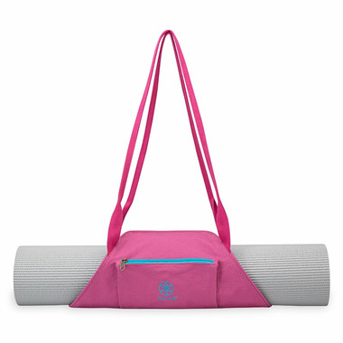Gaiam On-The-Go Mat Carrier Fuschia Sky