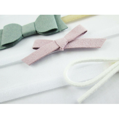 Baby Wisp Headband Mixed Bows Gift Set White Lilac Green