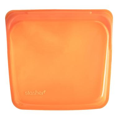 Stasher Reusable Storage Bag Orange
