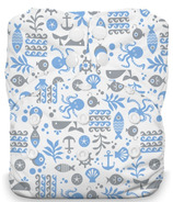 Thirsties Natural One Size All In One Snap Ocean Life