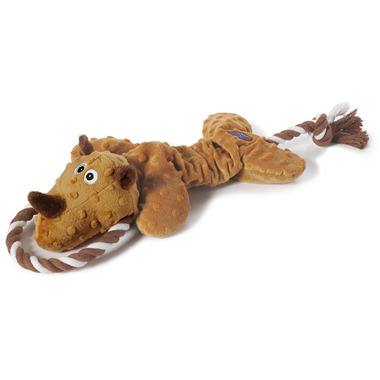 Charming Pet Products Scrunch Bunch Rhino Dog Toy