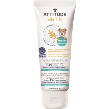ATTITUDE Natural Soothing Body Cream Daily Moisturizer for Babies