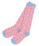 Little Blue House Women's Knee High Socks Hearts