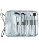 Danielle Creations 7 Piece RollUp Brush Set Silver