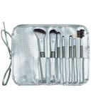 Danielle Creations 7 Piece RollUp Brush Set Silver