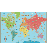 WallPops Kids World Dry Erase Map