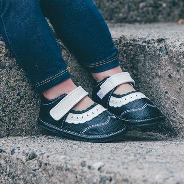 Jack & Lily My Shoes Saddle Black & White