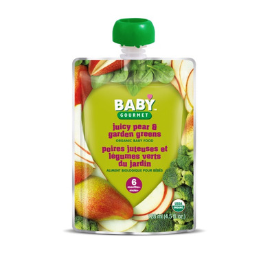 Baby Gourmet Juicy Pear and Garden Greens Baby Food Case