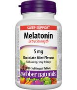 Webber Naturals Extra Strength Melatonin Chocolate Mint Flavour