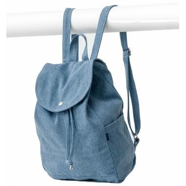 Baggu Drawstring Backpack in Washed Denim