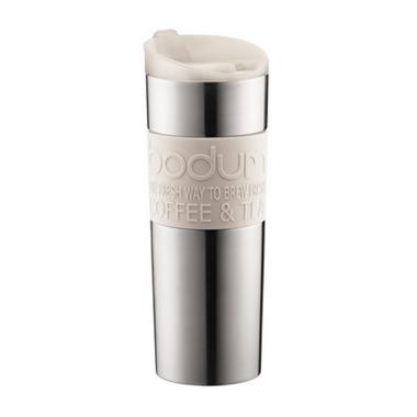 Bodum Travel Mug Stainless Steel White