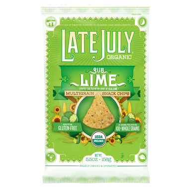 Late July Organic Sub Lime Multigrain Snack Chips