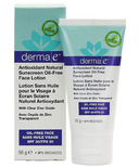 Derma E Antioxidant Natural Sunscreen Oil-Free Face Lotion