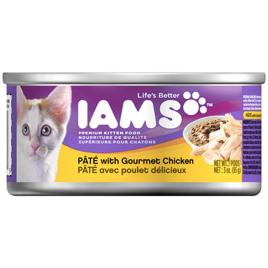 Iams Kitten Food Pate with Gourmet Chicken