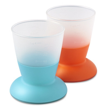 BabyBjorn Baby Cups Orange & Turquoise